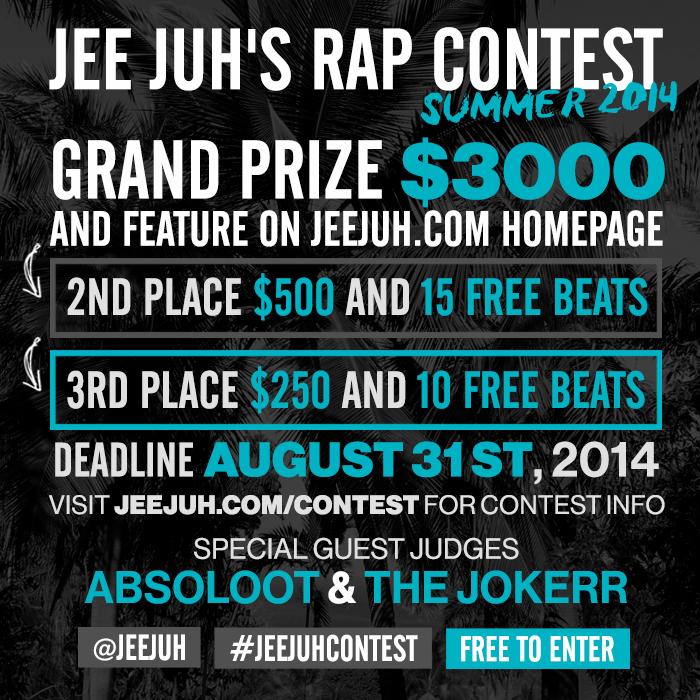 Jee Juh's $3000 Rap Contest Summer 2014